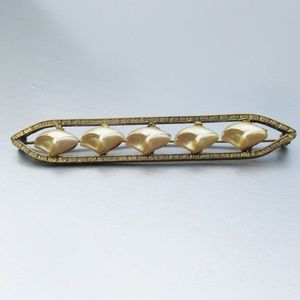 Jewelry - Antique Art Deco Faux Blister Pearl Bar Pin